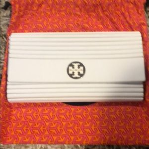 Tory Burch White Resin Clutch